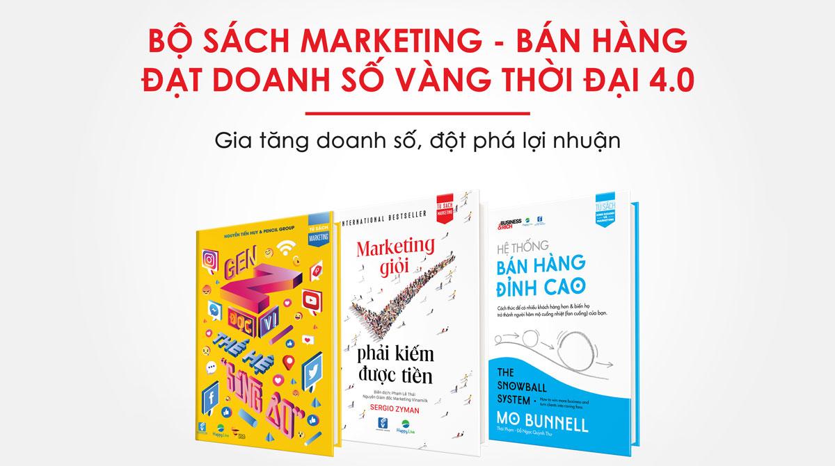 Bộ sách Marketing - Bán hàng đạt doanh số vàng thời đại 4.0 - Làm giàu từ kinh doanh