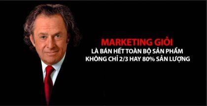 Sergio Zyman - Marketing giỏi là bán hết toàn bộ sản phẩm không chỉ 2/3 hay 80% sản lượng